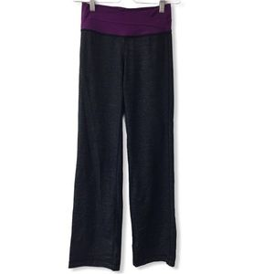 Lululemon Astro Pant in black and purple size: 4